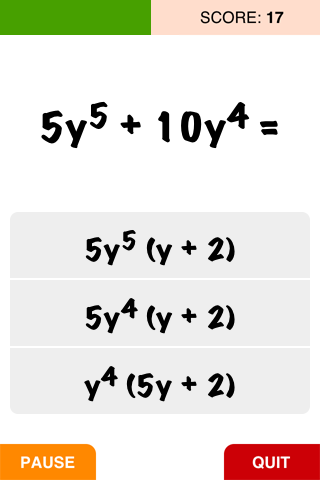 Algebra: Factorizing